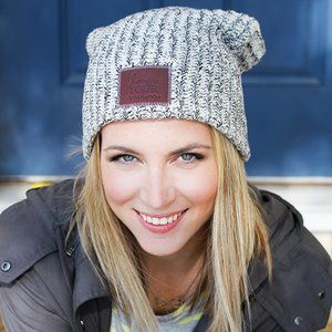 Love Your Melon Gray Cotton Knit Winter Beanie OS